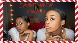 5 MINUTE MAKE UP CHALLENGE w/ BFF | Vlogmas🎄 Day 19