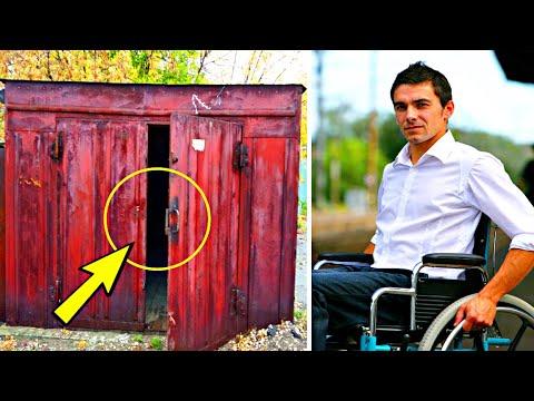 В наследство от деда, парализованному внуку достался старый гараж. Открыв его он потерял дар речи..