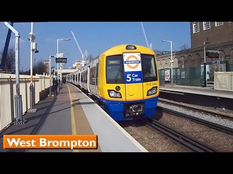 London Overground : West Brompton | West London Line - Southern ( British Rail Class 377 - 378 )