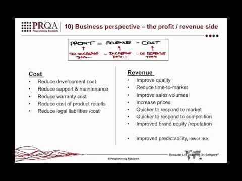 RoI: 10 Key Drivers - 10) Business perspective – the profit / revenue side