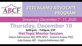 Hot Topic Mentor Session | Thursday, December 10, 2020
