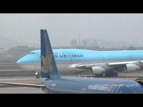 Thai Airways A330-300, China Airlines B737-800 & Korean Air Cargo B747-400F At Noi Bai