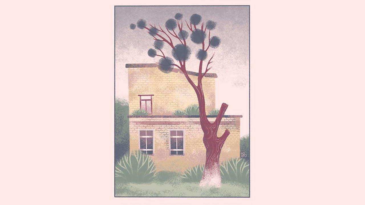 домик и дерево | speedpaint - YouTube