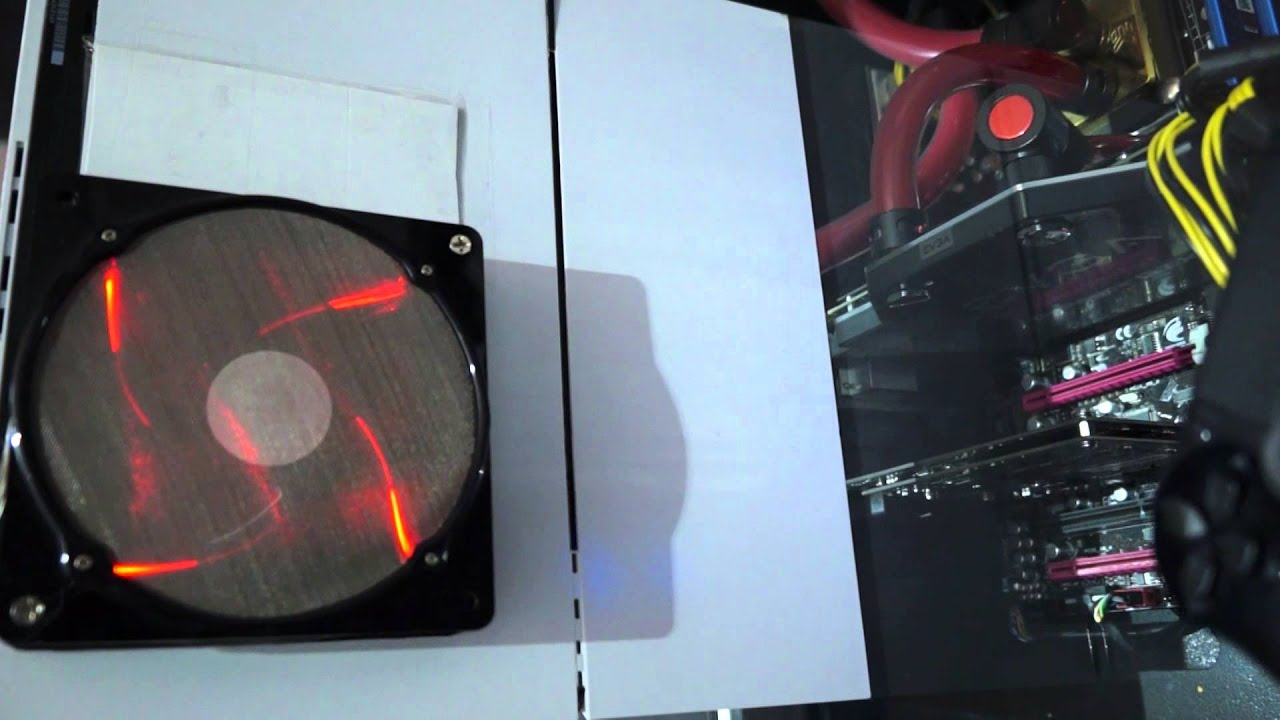 Playstation 4 PS4 Simple Cooling Mod - YouTube