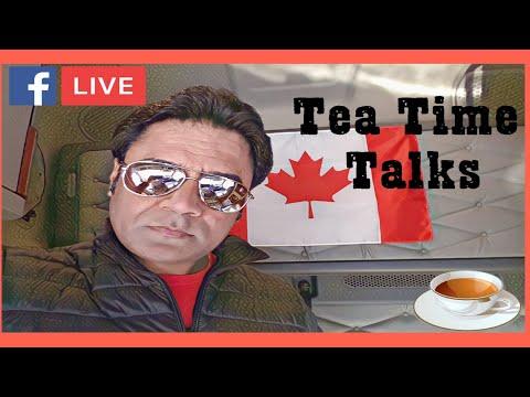 Facebook Live Video:  Talks during Tea Break in California