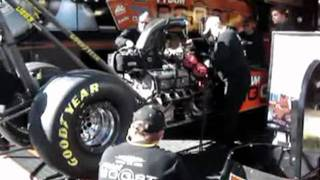 *** FUNNY *** Standing next to a 10,000 + Horsepower Nitro burning Top Fuel Hemi engine