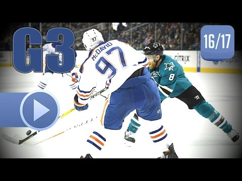 Edmonton Oilers vs San Jose Sharks. 2017 NHL Playoffs. Round 1. Game 3. April 16th, 2017. (HD)