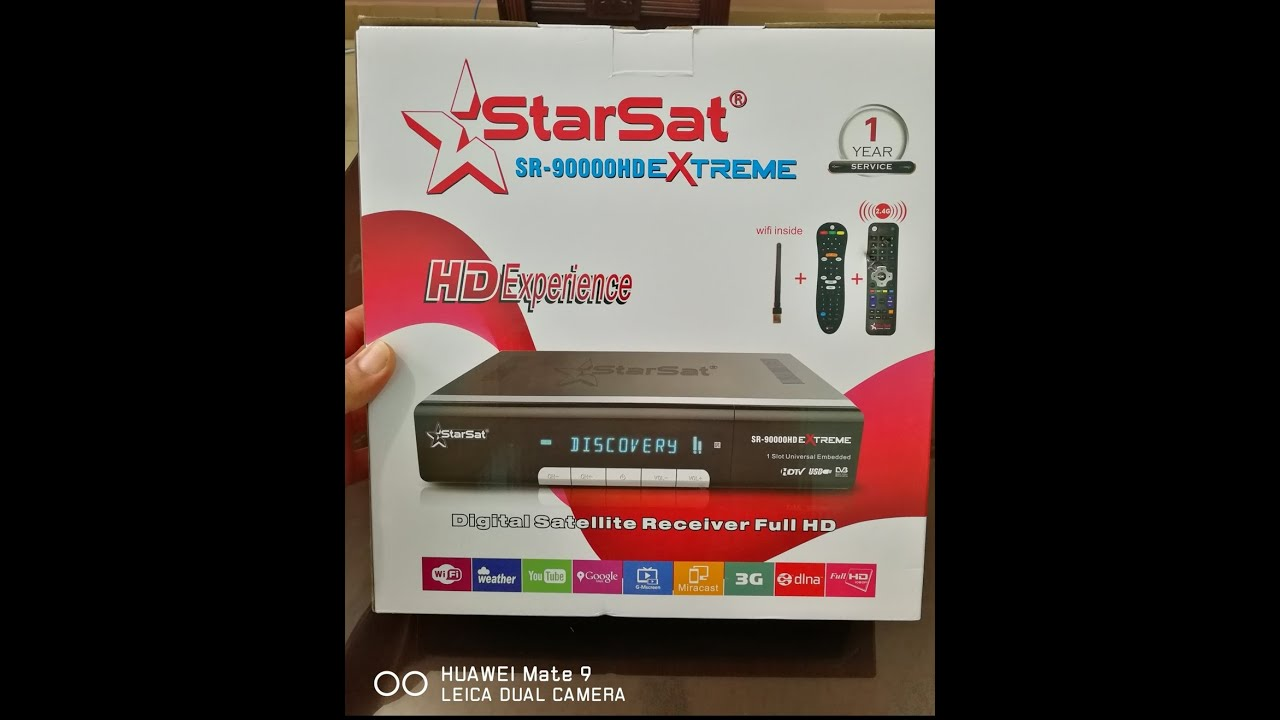 HOW TO STARSAT SR 90000 EXTREME (HEVC) WITH DUAL TUNER FOR
