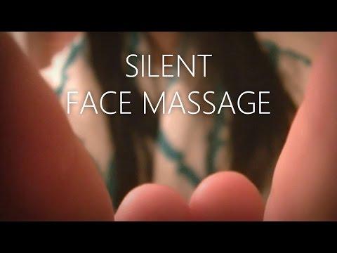 ASMR | Silent Face Massage, Visual Triggers, Hand Movements (long!) | Optional 3D BGM: Rain Sounds