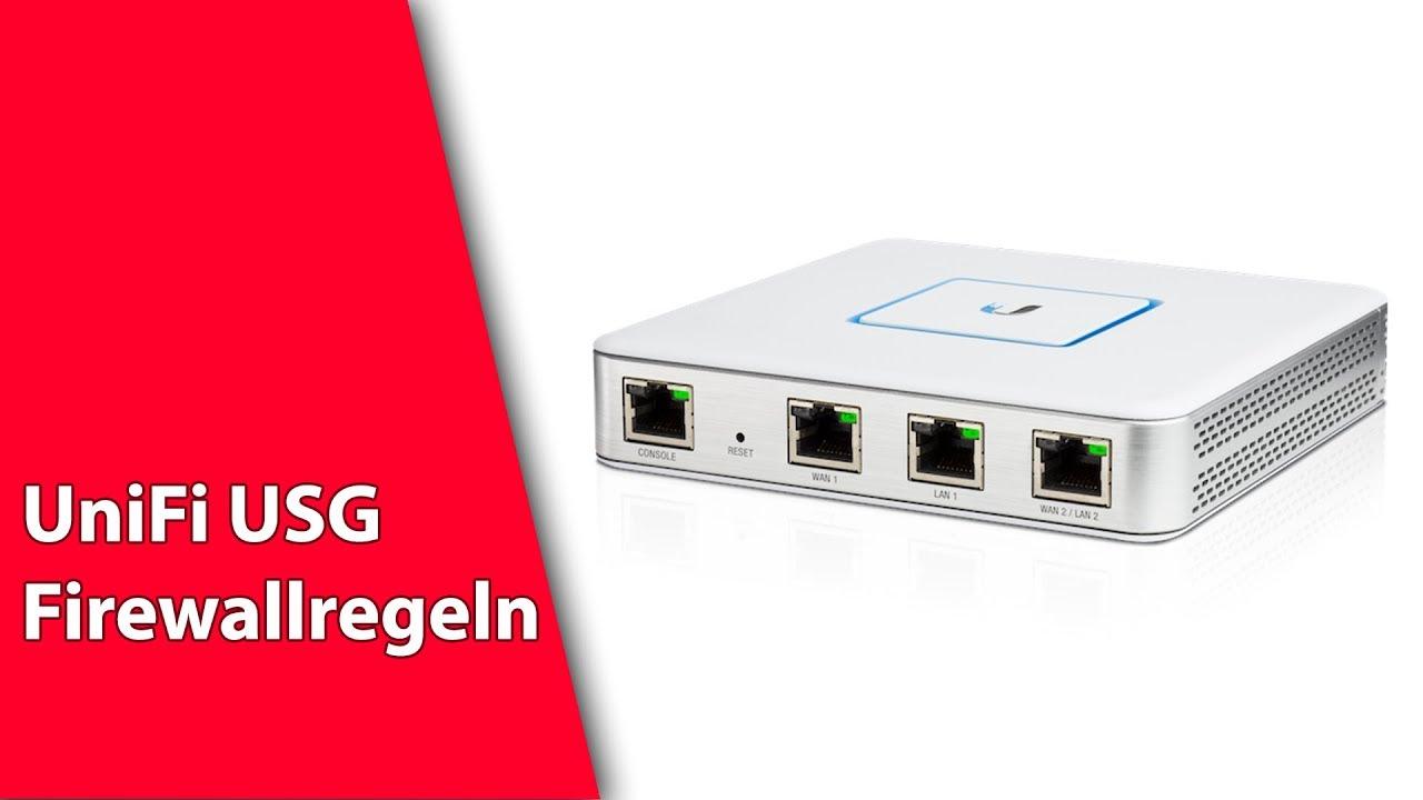 Unifi USG Firewall Regeln kurz erklärt - Tuturial deutsch