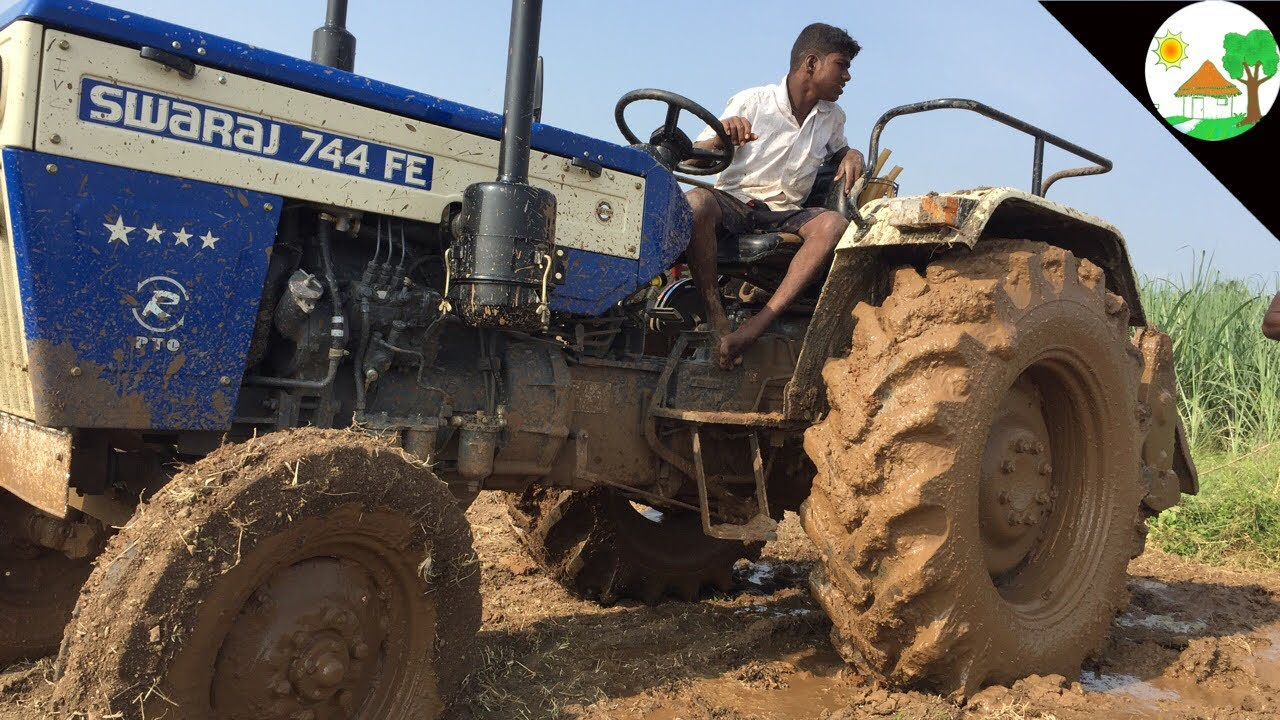 King of driver my SWARAJ TRACTOR / SWARAJ 744 FE Tractor STUNT VIDEO/Super  Power and Fast Tractor