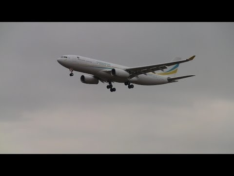 Kazakhstan Government Airbus A-330 landing runway 14 at ZRH