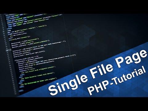 PHP Tutorial | Eine Datei Für Mehrere Seiten - Single Index.php (Deutsch)