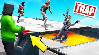 TROLLING My FRIENDS With A SECRET TRAP! (Fortnite Trap Deathrun)
