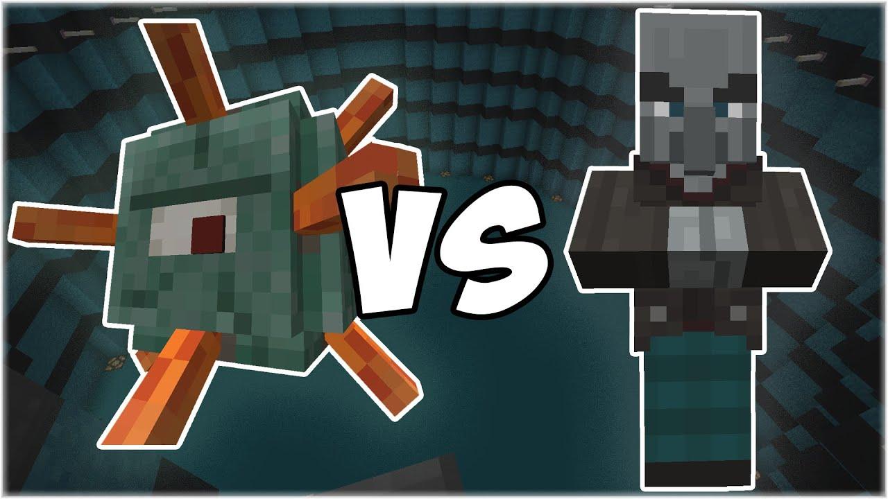 Guardian vs Vindicator - Minecraft Mob Battle