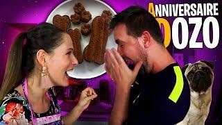Je fais un gâteau d'anniversaire pour DOZO ! 🐶 Valouzz le goûte.et...