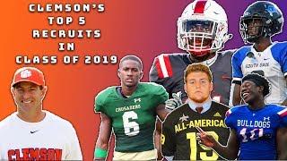 Clemson Footballs Top 5 Recruits of 2019  Sharpe Sports