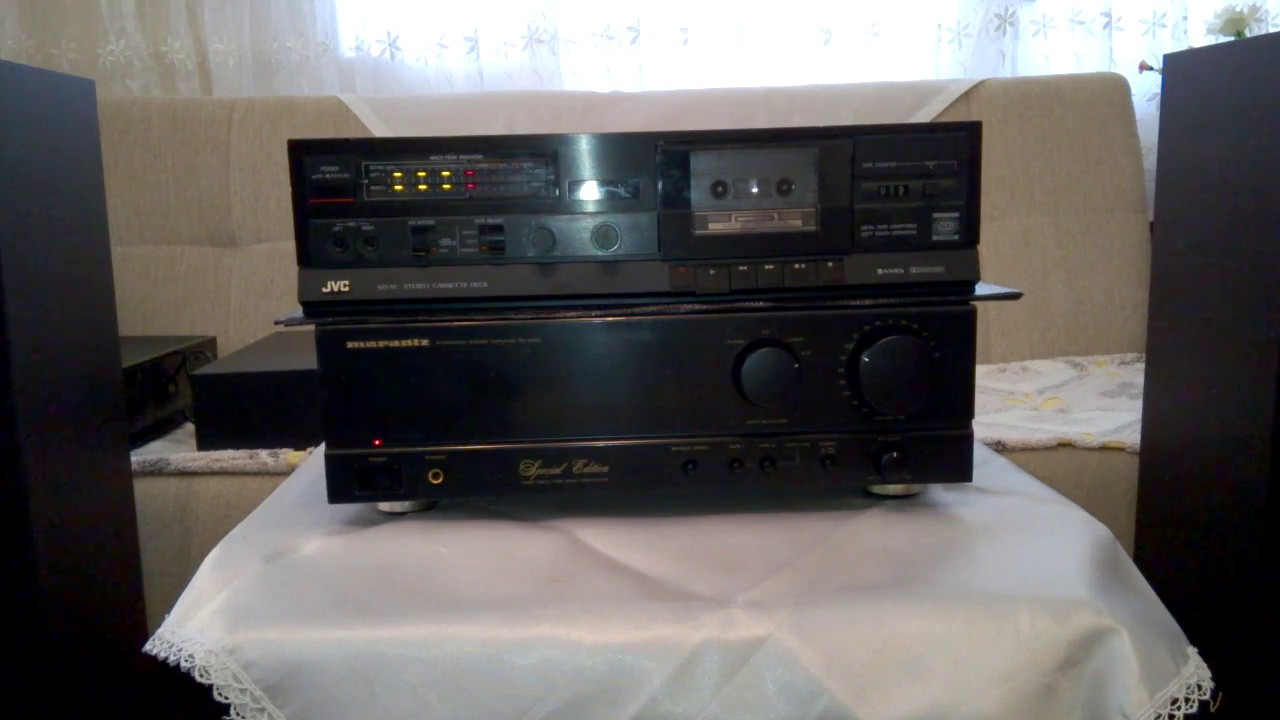 jvc kdx1 stereo double cassette tape deck hifi youtube. Black Bedroom Furniture Sets. Home Design Ideas