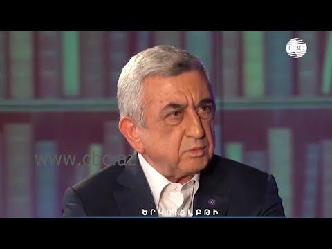 Серж Саргсян подтвердил, что армянская сторона обстреливала жилые кварталы Гянджи