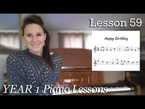 How to Play Happy Birthday Free Beginner Piano Lesson #59 - Which Chords do I Play?    [Year 1] 4-11