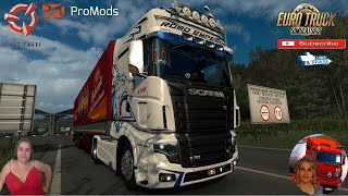 """Euro Truck Simulator 2 (1.37)   Scania R700 Reworked V2.0 by Kasuy Delivery to Hungary Promods map v2.46 Schmitz Trailer by TZ Express Motorcycle Traffic Pack by Jazzycat FMOD ON and Open Windows Naturalux Graphics and Weather Spring Graphics/Weather v3.5 (1.37) by Grimes Test Gameplay ITA + DLC's & Mods V2.0 Changelog: – Adaptation to 1.37 patch – Openable Windows – Advanced Trailer Coupling – Animated Trailer Cables – Improved external interior – UV Map remapping (some skins might looks disorderly) – Added new paintjob – Some accessory parts were removed due to incompatibility with DX11 https://sharemods.com/4m2nqm2fvwgz/Scania_R700_Reworked_v2.0.zip.html  SCS Software News Iberian Peninsula Spain and Portugal Map DLC Planner...2020 https://www.youtube.com/watch?v=NtKeP0c8W5s Euro Truck Simulator 2 Iveco S-Way 2020 https://www.youtube.com/watch?v=980Xdbz-cms&t=56s  #TruckAtHome #covid19italia Euro Truck Simulator 2    Road to the Black Sea (DLC)    Beyond the Baltic Sea (DLC)   Vive la France (DLC)    Scandinavia (DLC)    Bella Italia (DLC)   Special Transport (DLC)   Cargo Bundle (DLC)   Vive la France (DLC)    Bella Italia (DLC)    Baltic Sea (DLC)   American Truck Simulator New Mexico (DLC) Oregon (DLC) Washington (DLC) Utah (DLC)     I love you my friends Sexy truck driver test and gameplay ITA  Support me please thanks Support me economically at the mail vanelli.isabella@gmail.com  Roadhunter Trailers Heavy Cargo  http://roadhunter-z3d.de.tl/ SCS Software Merchandise E-Shop https://eshop.scssoft.com/  Euro Truck Simulator 2 http://store.steampowered.com/app/227... SCS software blog  http://blog.scssoft.com/  Specifiche hardware del mio PC: Intel I5 6600k 3,5ghz Dissipatore Cooler Master RR-TX3E  32GB DDR4 Memoria Kingston hyperX Fury MSI gtx 970 Twin Frozr Gaming 4gb ddr5 Asus Maximus VIII Ranger Gaming Cooler master Gx750 SanDisk SSD PLUS 240GB  HDD WD Blue 3.5"""" 64mb SATA III 1TB Corsair Mid Tower Atx Carbide Spec-03 Xbox 360 Controller Windows 10 pro 64bit"""