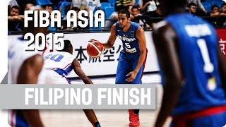 Filipino Finish with a great dunk by Abueva - 2015 FIBA Asia Championship