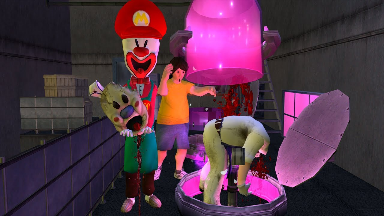 Ice Scream 5 Father killed His Son in Pink Room funny animation part 162