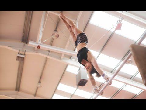 Jaeger Gymnastics Skills With Casey