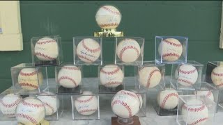 Son auctioning off dad's signed baseball collection to help his old Pony league