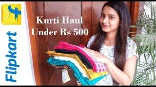 Flipkart Kurti Haul Under 500 || Flipkart Kurti Review 2019 || Latest Cotton Kurti Designs 2019