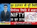 जून EXPIRY की पूरी तैयारी   निर्णायक स्थिति में बाज़ार NIFTY 26 जून 2019   NIFTY TRADING STRATEGIES