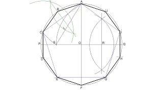 How to draw a regular decagon inscribed in a circle