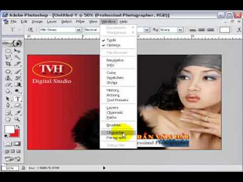 Photoshop CS2 - Phần 4 - Bài 6b - Danh thiếp