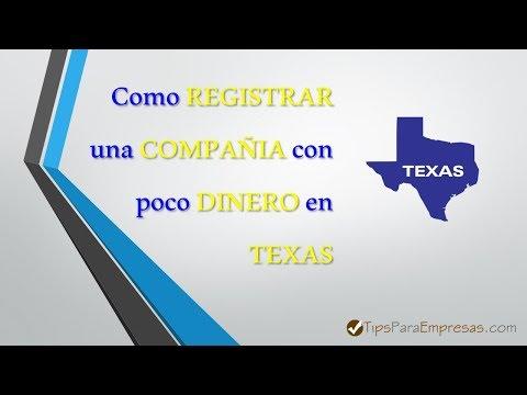 💲💲💲 Como REGISTRAR una COMPANIA con poco DINERO en Texas