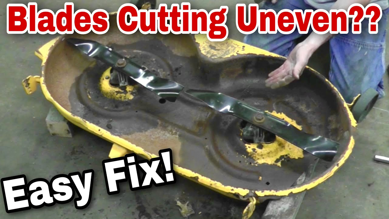 How To Fix Your Bent Mower Deck Uneven Cutting With
