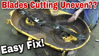 How To Fix Your Bent Mower Deck (Uneven Cutting) with Taryl