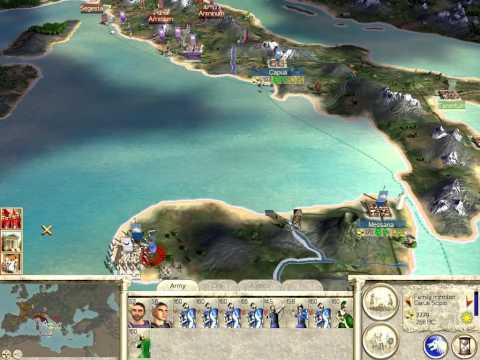 Let's Play Rome Total War - 03 (Grabbing Up The Final Chunk, Hanno Humps a Wall)