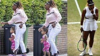 Serena WIlliams' daughter Alexis Olympia Shows Her Football Skills As She Enjoys family feast