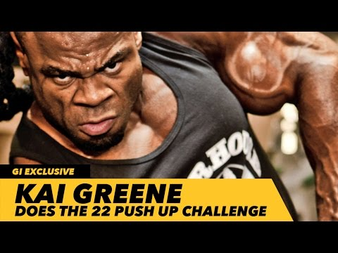 Kai Greene Does 22 Push Up Challenge With NYPD 1st Precinct | Generation Iron
