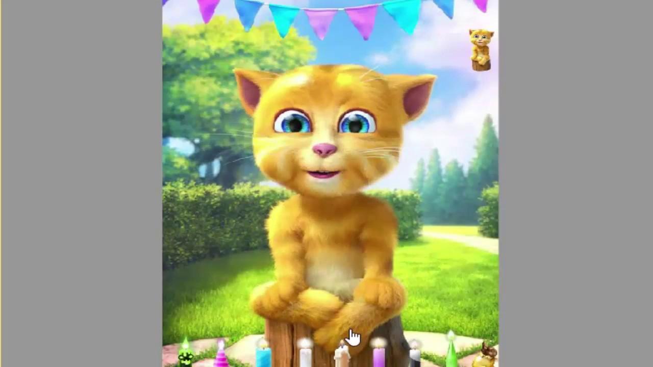 Mèo vàng- Sinh nhật- Game trẻ em- Chú mèo biết nói