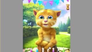 Mèo vàng- Sinh nhật- Gąme trẻ em- Chú mèo biết nói