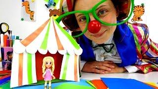 Детское видео. Делаем цирк из бумаги. Поделки для детей
