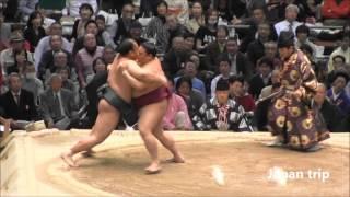 御嶽海 vs 北太樹の取組。 2016大相撲春場所6日目。