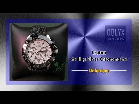 Croton Sterling Silver Chronomaster Unboxing