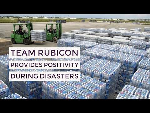 Team Rubicon Provides Positivity During Disasters Like Hurricane Harvey, Irma & Maria