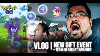Pokémon GO Vlog 147: New Gift Event + Team GO Rocket Invasion!