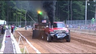 East Coast Pullers Pro Stock Diesel Truck Pull at the Listie Nationals in Friedens, PA on 7/26/14