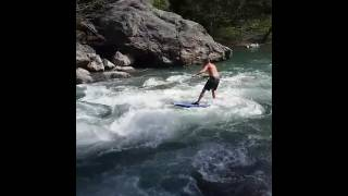 River surfing gnar 2