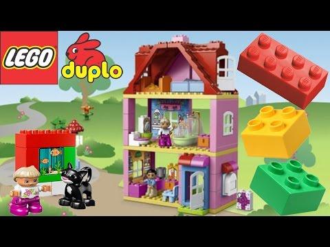 Смотреть  Lego мультик - Интересные игрушки для детей Кукольный домик Lego Duplo