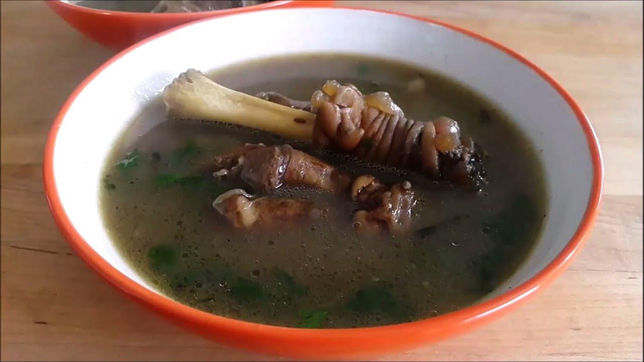 leg of lamb bone soup